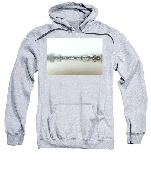 Foggy Day On Portland Downtown Waterfront Sweatshirt