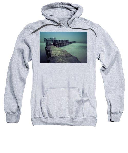 Foggy Night At Toes Beach Sweatshirt
