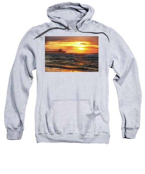 Folly Beach Pier Sunrise Sweatshirt
