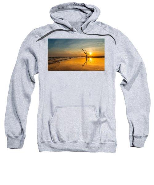 Folly Beach Skeleton Tree At Sunset - Folly Beach Sc Sweatshirt