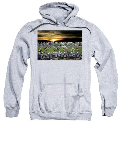 Football Field-notre Dame-navy Sweatshirt