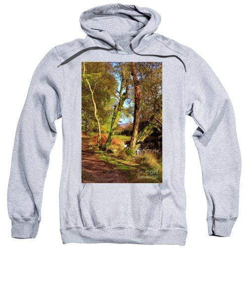 Footpath At The Edge Of Lantys Tarn In The Lake District Cumbria Sweatshirt