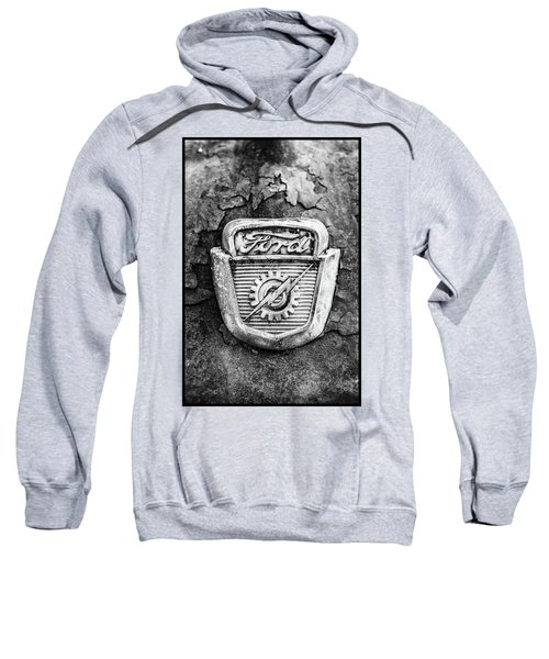 Ford Emblem On A Rusted Hood Verticle Sweatshirt