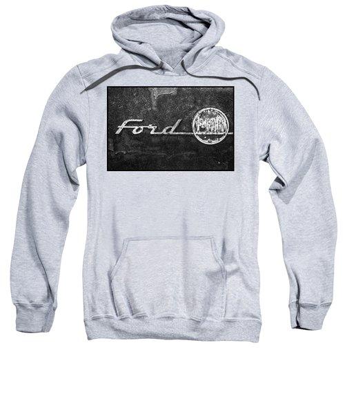 Ford F-100 Emblem On A Rusted Hood Sweatshirt