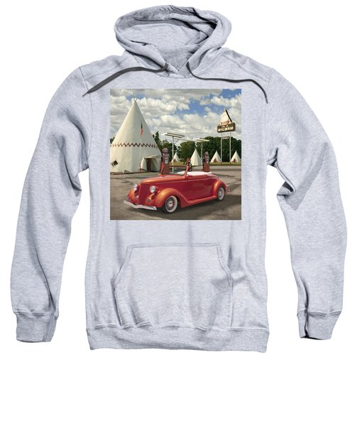 Ford Roadster At An Indian Gas Station 2 Sweatshirt