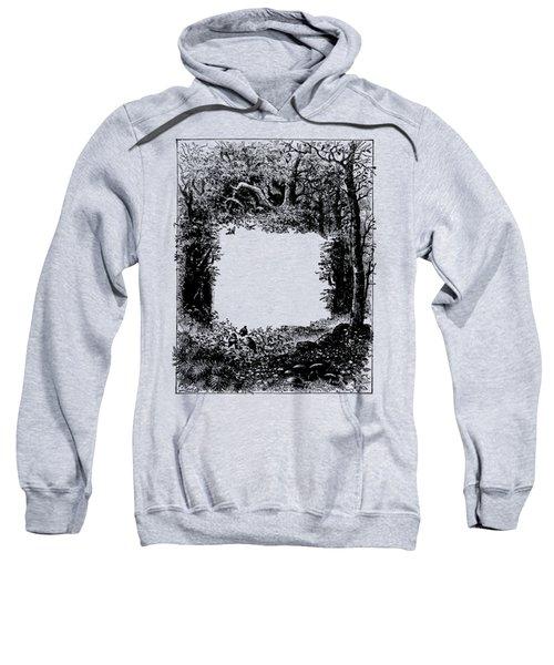 Forest Frame Dictionaryart Trees Ink Artwork  Sweatshirt