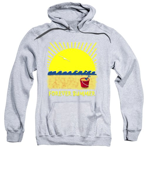 Sweatshirt featuring the digital art Forever Summer 8 by Linda Lees