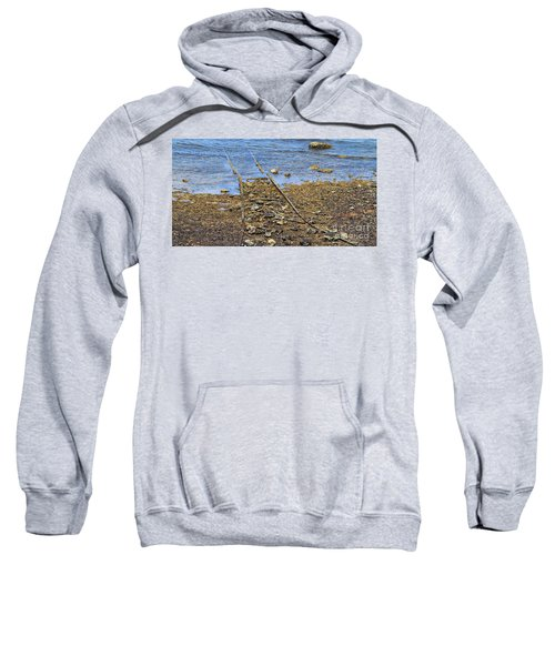 Sweatshirt featuring the photograph Forgotten Line II by Stephen Mitchell
