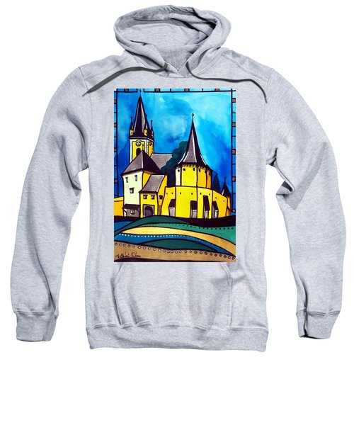 Fortified Medieval Church In Transylvania By Dora Hathazi Mendes Sweatshirt