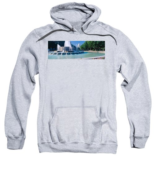 Fountain And Us Capitol Building Sweatshirt by Panoramic Images