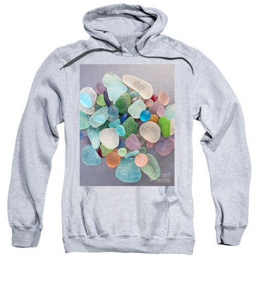 Four Marbles And A Rainbow Of Beach Glass Sweatshirt