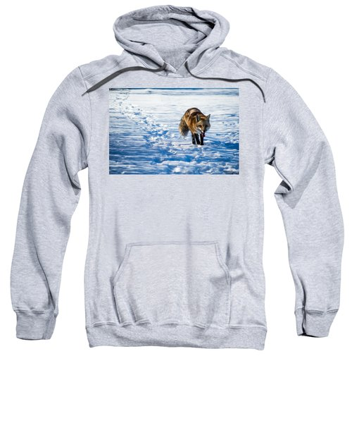 Sweatshirt featuring the photograph Fox Path by Stephen Holst