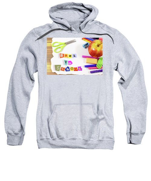 Framework Composed Of School Supplies And Text Back To School Sweatshirt