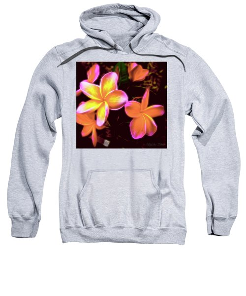 Frangipanis On The Glow Sweatshirt