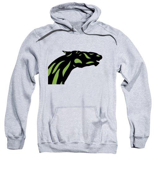 Fred - Pop Art Horse - Black, Greenery, Island Paradise Blue Sweatshirt