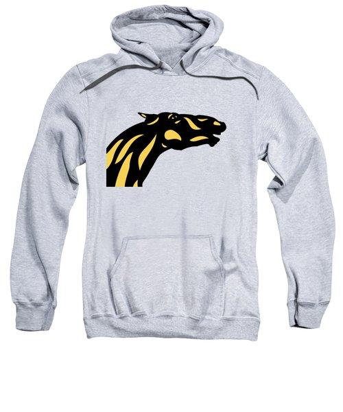 Fred - Pop Art Horse - Black, Primrose Yellow, Hazelnut Sweatshirt