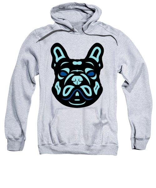 French Bulldog Francis - Dog Design - Hazelnut, Island Paradise, Lapis Blue Sweatshirt