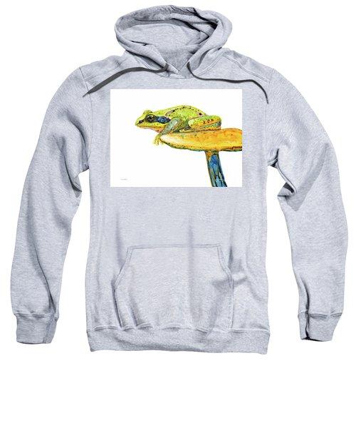 Frog Sitting On A Toad-stool Sweatshirt