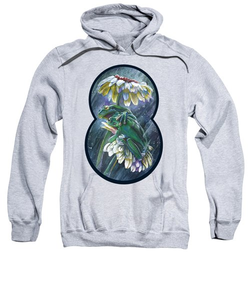 Frogs- Optimized For Shirts And Bags Sweatshirt by Michael Volpicelli