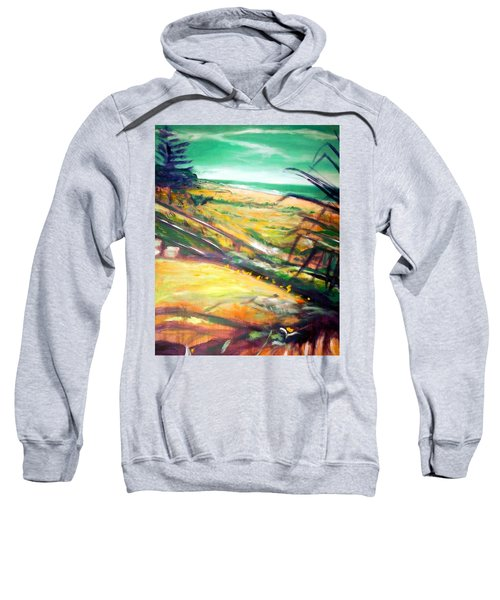 Sweatshirt featuring the painting From The Lawn Pandanus by Winsome Gunning