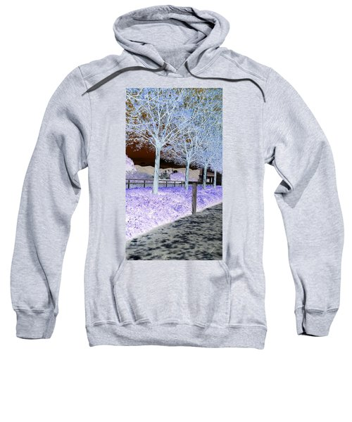 Frosty Trees At The Getty Sweatshirt