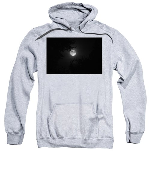 Sweatshirt featuring the photograph Full Moon With Branches by Stephen Holst