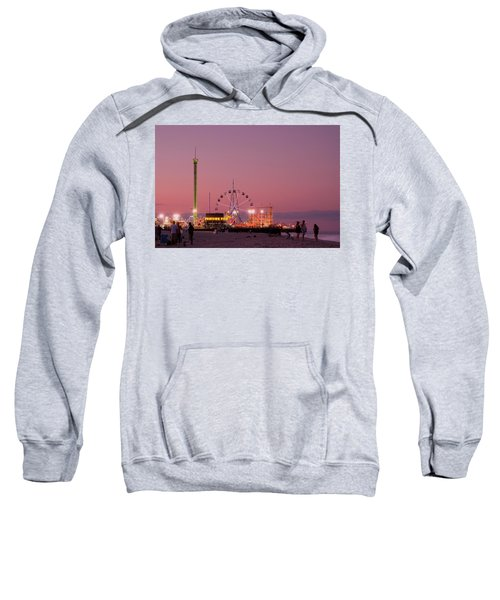 Funtown Pier At Sunset IIi - Jersey Shore Sweatshirt