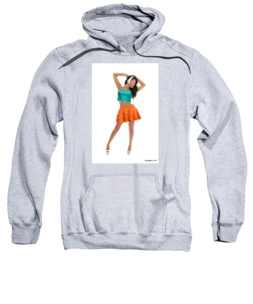 Sweatshirt featuring the digital art Gaby by Nancy Levan