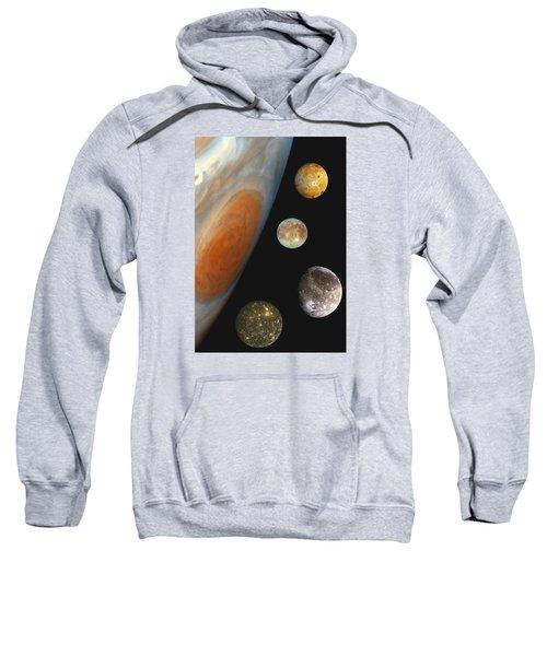 Galilean Moons Of Jupiter Sweatshirt