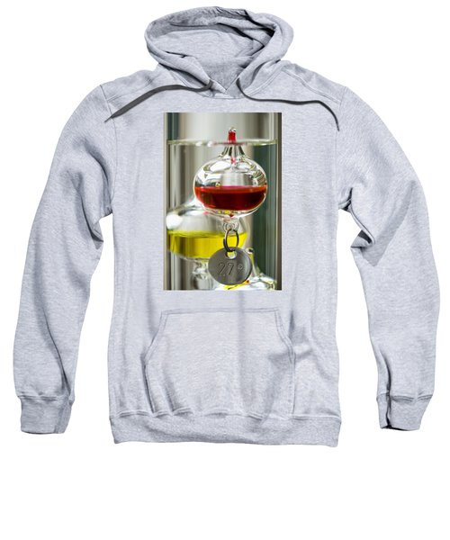 Sweatshirt featuring the photograph Galileo Thermometer by Jeremy Lavender Photography