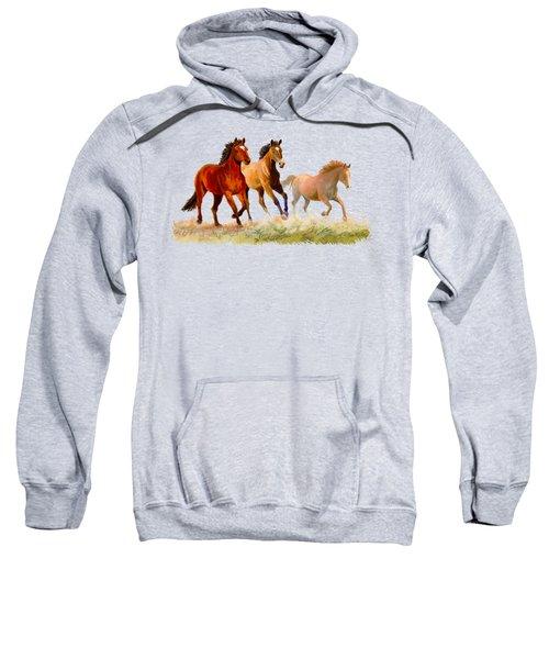Galloping Horses Sweatshirt