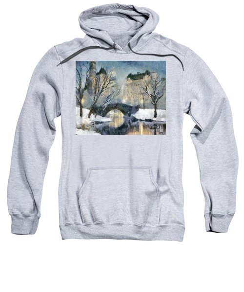 Gapstow Bridge In Snow Sweatshirt