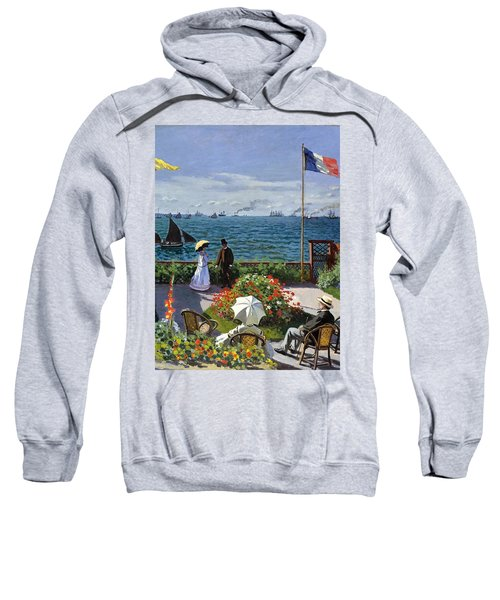 Garden At Sainte Adresse By Claude Monet Sweatshirt