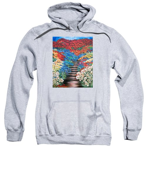 Red White And Blue Garden Cascade.               Flying Lamb Productions  Sweatshirt