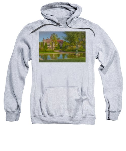 Garden Fountain At Ames Free Library Sweatshirt