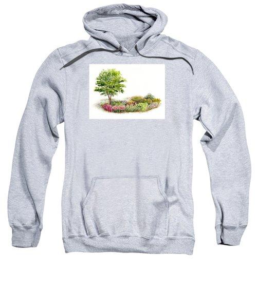 Garden Fresh Watercolor Painting Sweatshirt