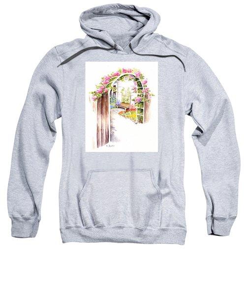 Garden Gate Botanical Landscape Sweatshirt