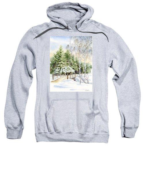 Garden Landscape Winter Sweatshirt