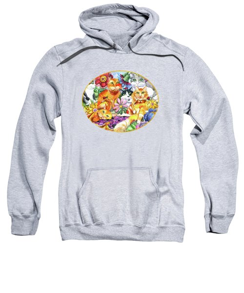 Garden Party Sweatshirt by Shelley Wallace Ylst