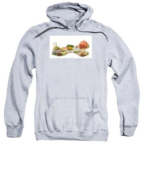 Garden Wild Flowers Watercolor Sweatshirt