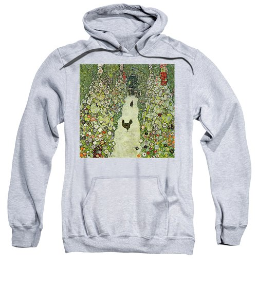 Garden With Chickens Sweatshirt