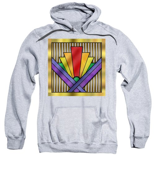 Rainbow Art Deco Sweatshirt