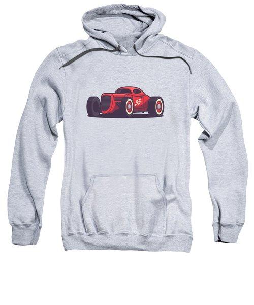 Gaz Gl1 Custom Vintage Hot Rod Classic Street Racer Car - Red Sweatshirt
