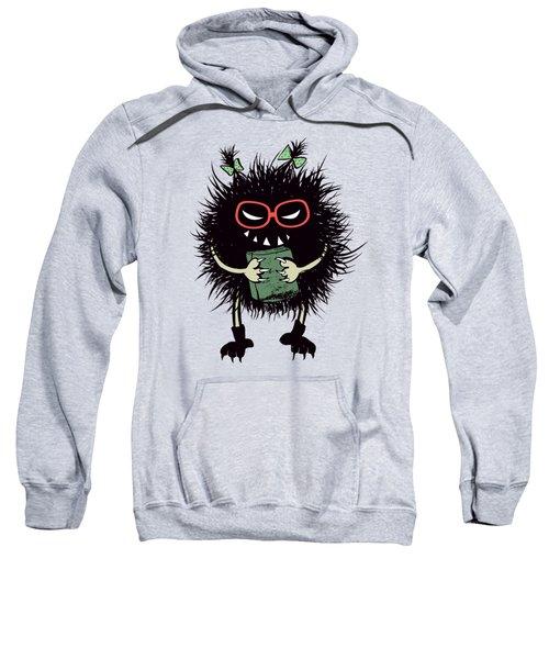 Geek Evil Bug Character Loves Reading Sweatshirt