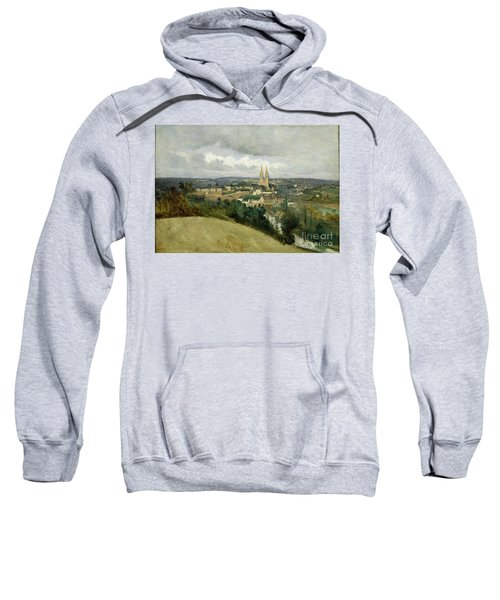 General View Of The Town Of Saint Lo Sweatshirt