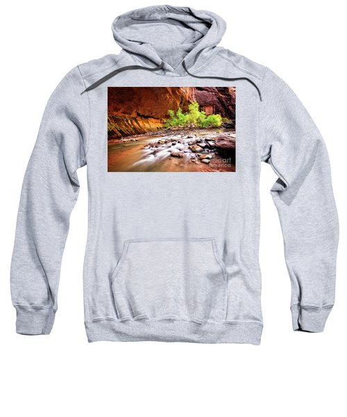 Sweatshirt featuring the photograph Gentle Flow by Scott Kemper