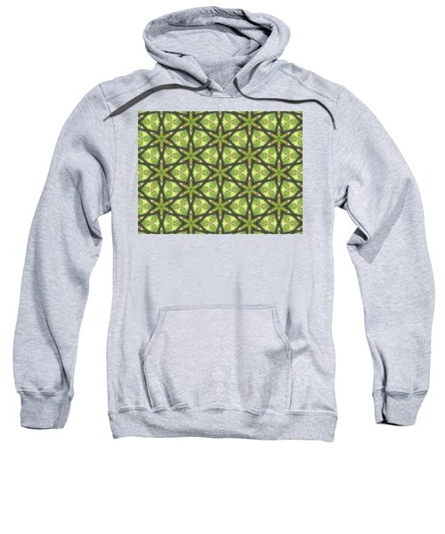 Geo Stars In Greens Sweatshirt