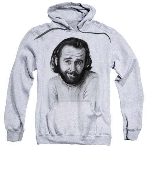 George Carlin Portrait Sweatshirt by Olga Shvartsur