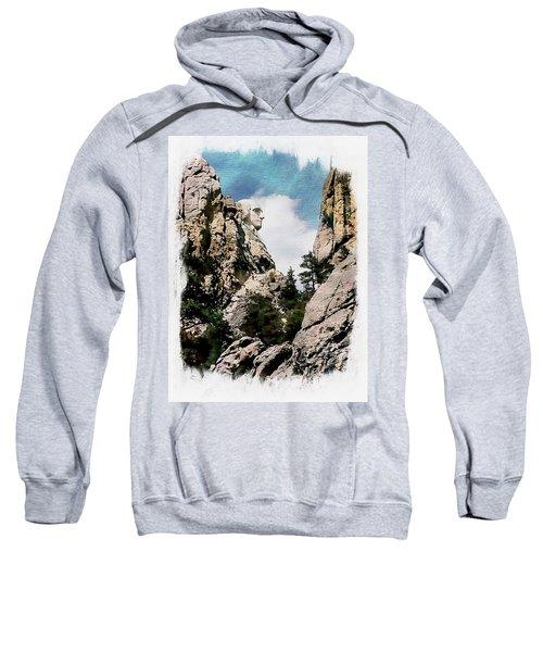 George Washington Profile - Mount Rushmore Sweatshirt