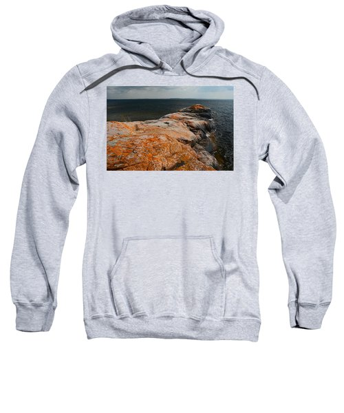 Georgian Bay Rocks Lichen-3675 Sweatshirt